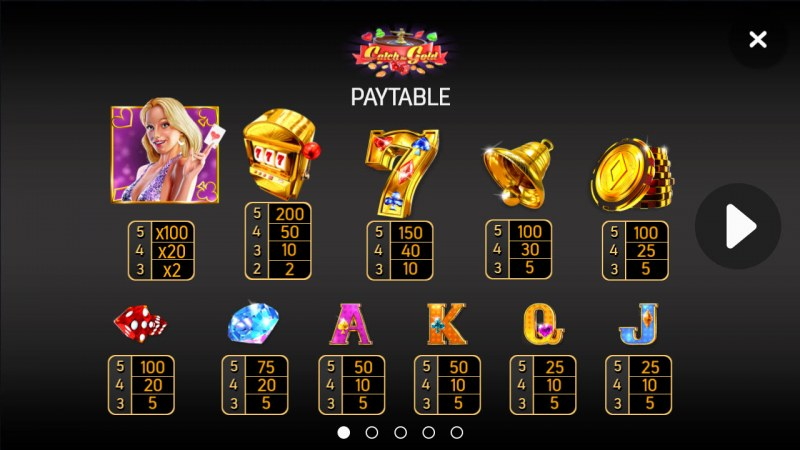 Catch the Gold :: Paytable