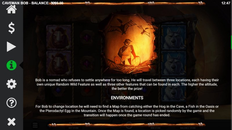 Caveman Bob :: Feature Rules