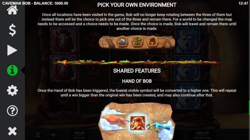 Caveman Bob :: Pick Your Own Enviroment
