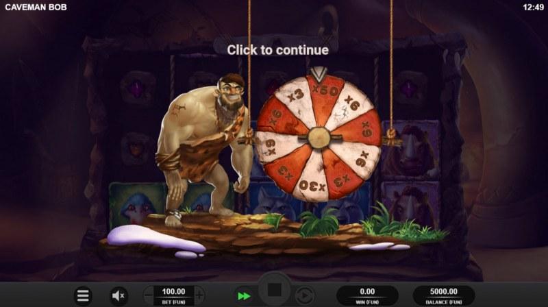 Caveman Bob :: Bonus Wheel