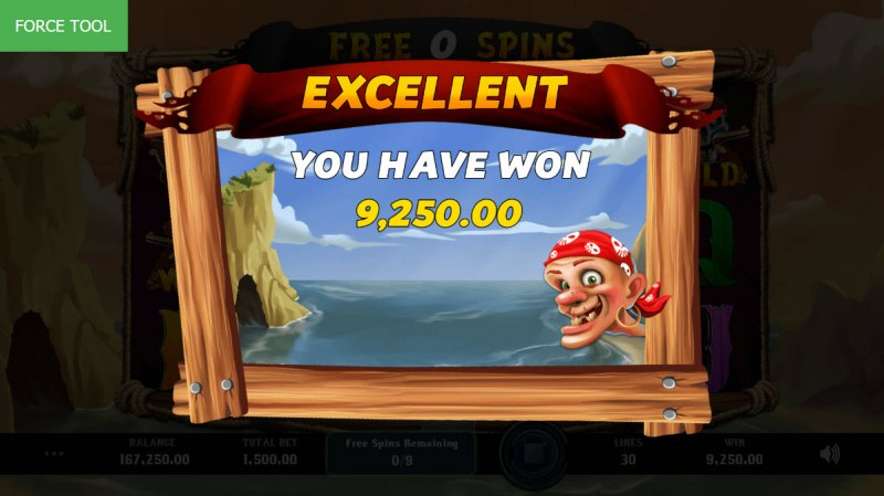 Caves & Treasures :: Total free spins payout