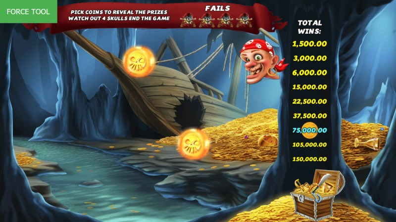 Caves & Treasures :: Bonus play ends once skulls are collected