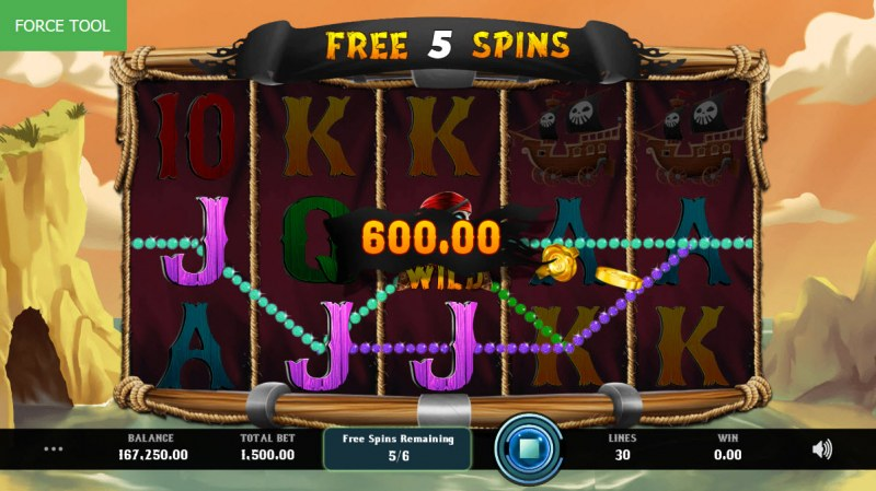 Caves & Treasures :: Free Spins Game Board