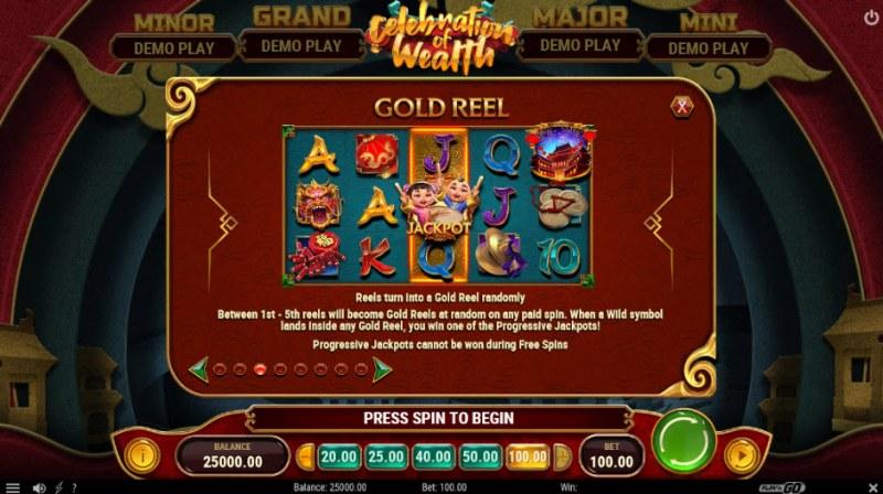 Celebration of Wealth :: Gold Reel