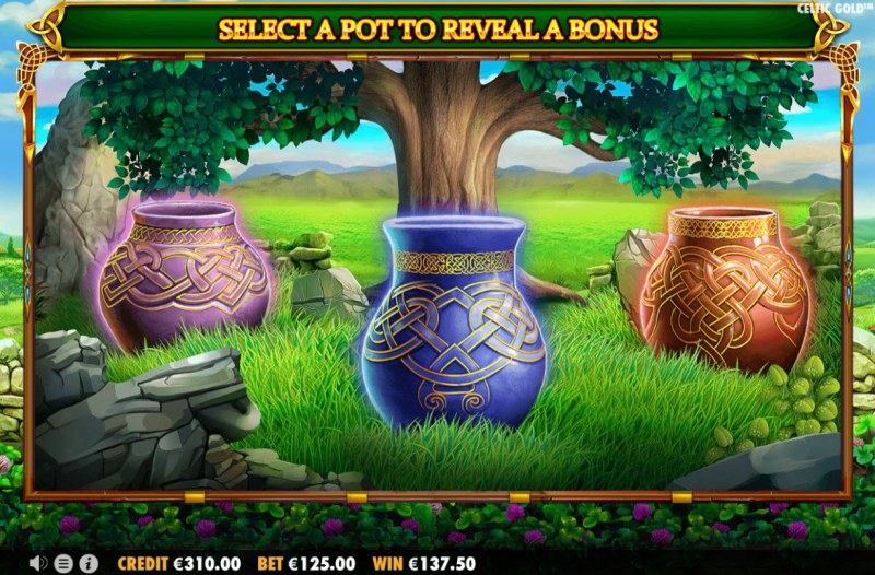Celtic Gold :: Select a pot to reveal a prize