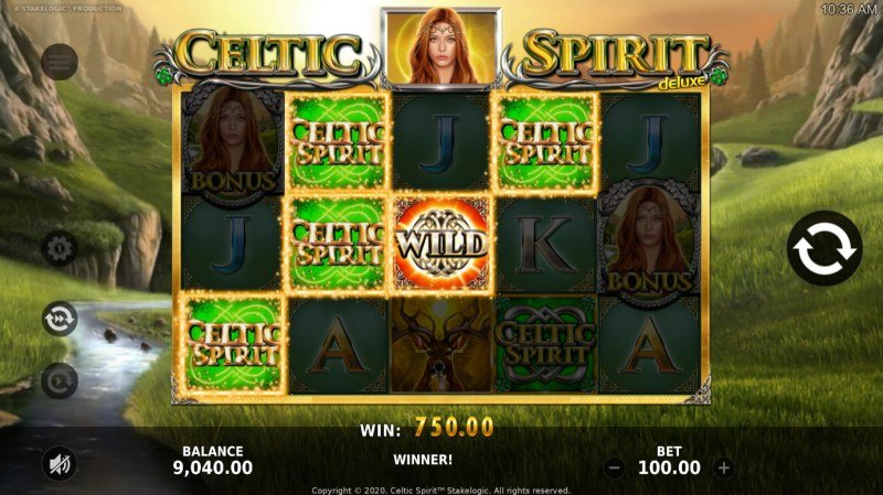 Celtic Spirit Deluxe :: A four of a kind win