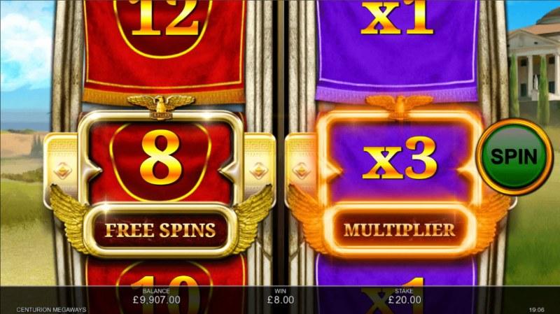 Centurion Megaways :: Caeser's free spins