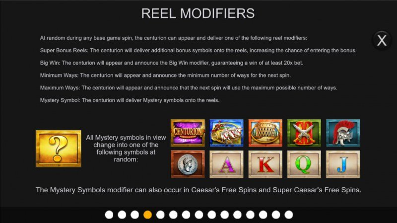 Centurion Megaways :: Reel Modifiers