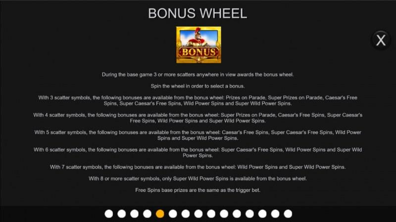 Centurion Megaways :: Bonus Wheel
