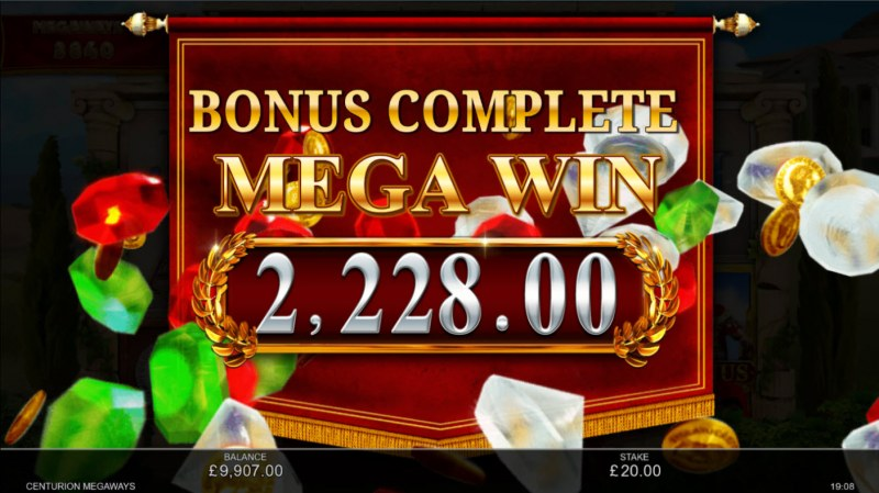 Centurion Megaways :: Total Free Spins Payout