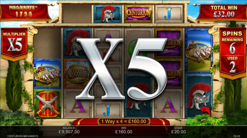 Centurion Megaways :: X5 Win Multiplier