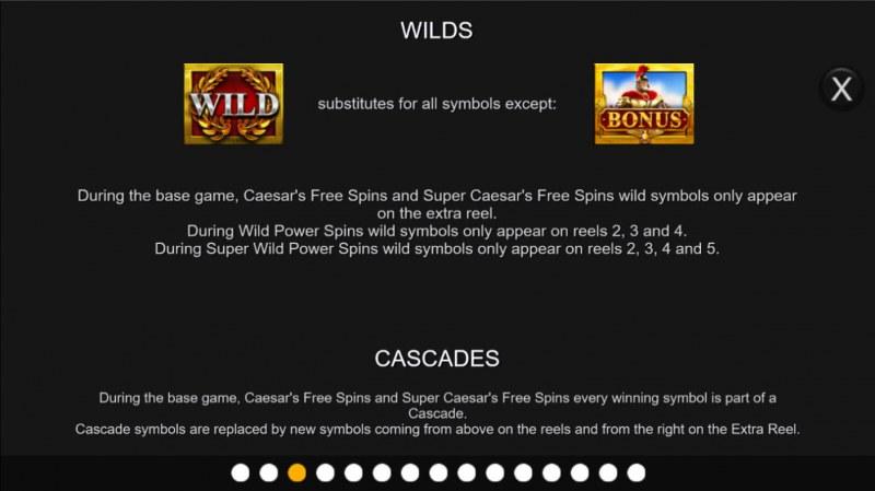 Centurion Megaways :: Wild Symbol Rules