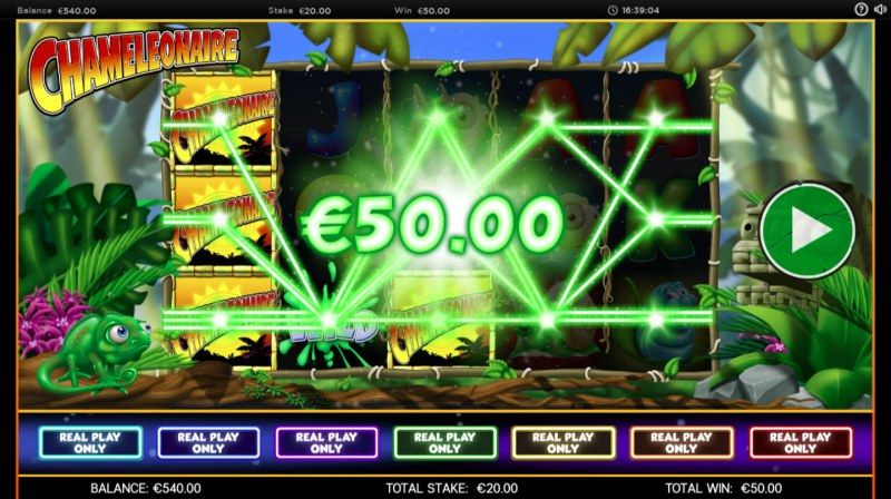 Chameleonaire :: Multiple winning paylines