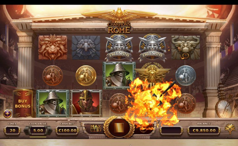 Champions of Rome :: Random wilds added to reels