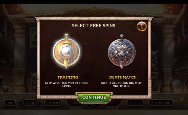 Champions of Rome :: Choose your free spins feature