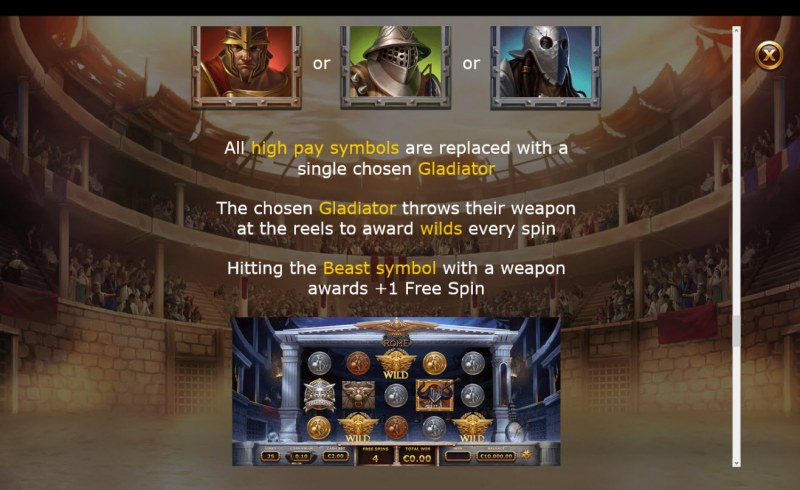 Champions of Rome :: Free Spins Rules