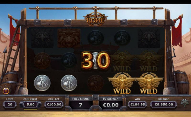 Champions of Rome :: Free Spins Game Board