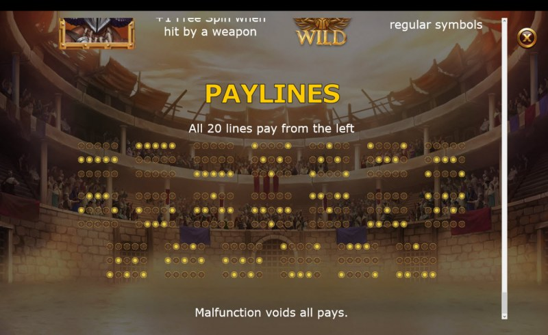 Champions of Rome :: Paylines 1-20