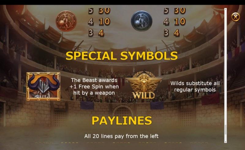 Champions of Rome :: Special Symbols