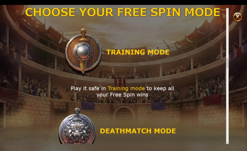 Champions of Rome :: Choose Your Free Spins Mode