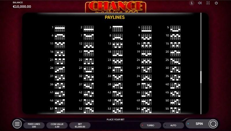 Chance Machine 100 :: Paylines 1-50