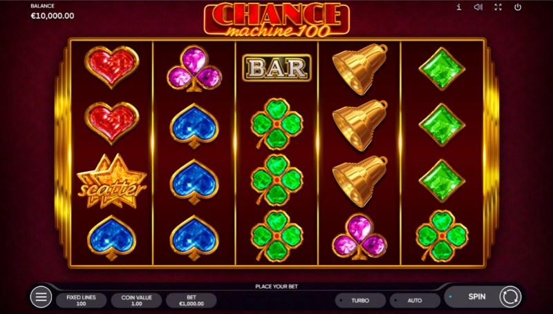 Chance Machine 100 :: Base Game Screen