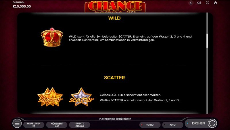 Chance Machine 20 :: Wild and Scatter Rules