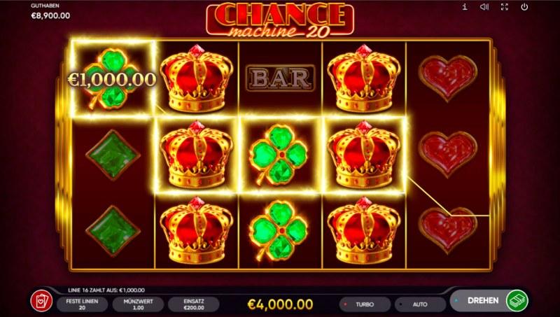 Chance Machine 20 :: Multiple winning paylines