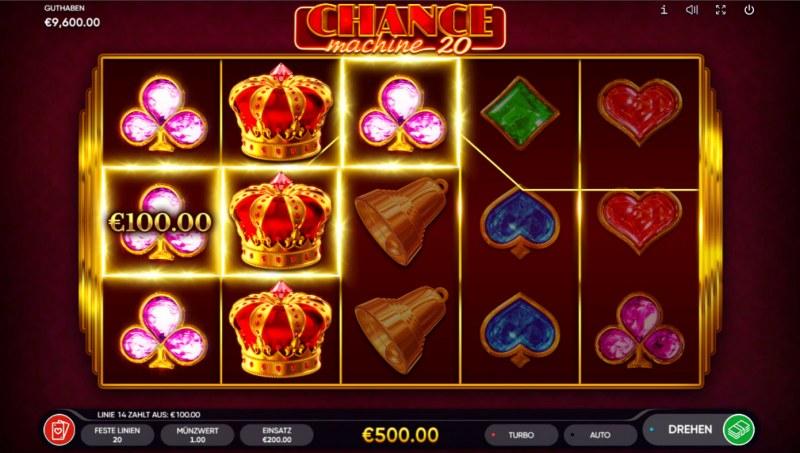 Chance Machine 20 :: A three of a kind win