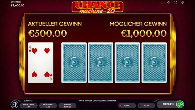 Chance Machine 20 :: Red or Black Gamble Feature