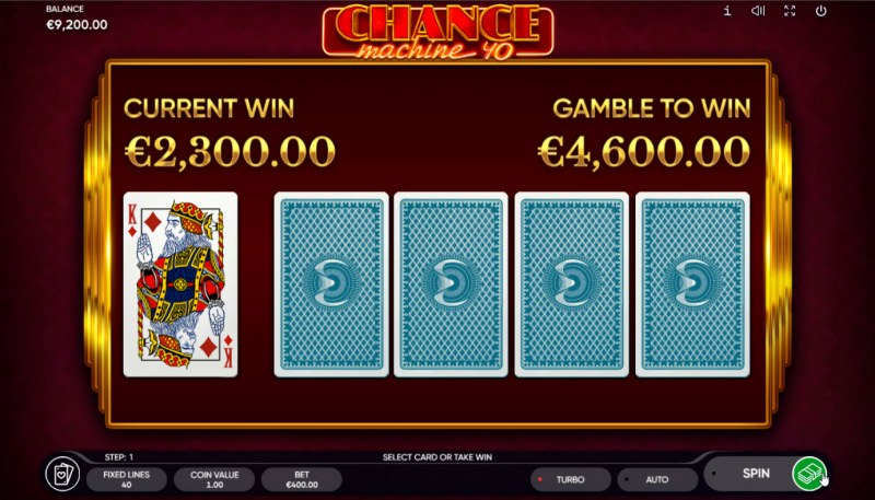 Chance Machine 40 :: Red or Black Gamble Feature