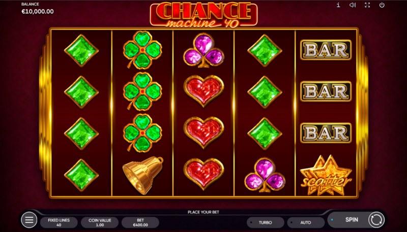 Chance Machine 40 :: Base Game Screen