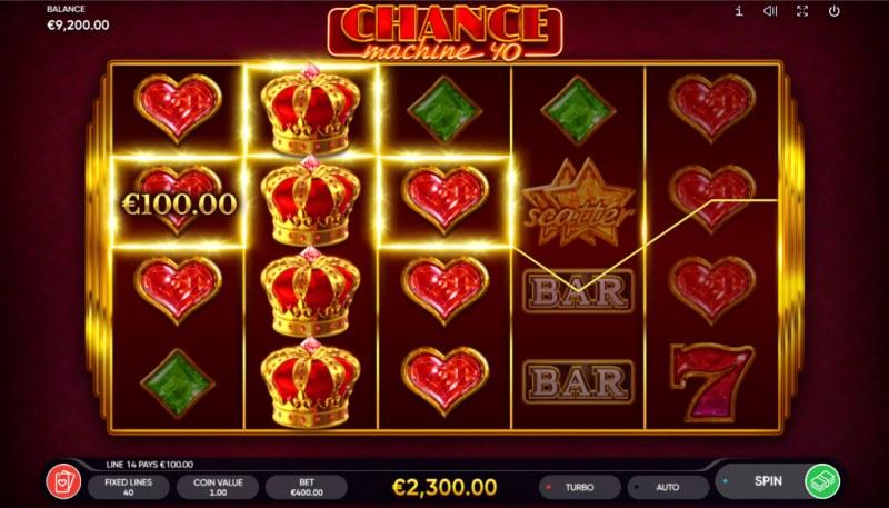 Chance Machine 40 :: Multiple winning paylines
