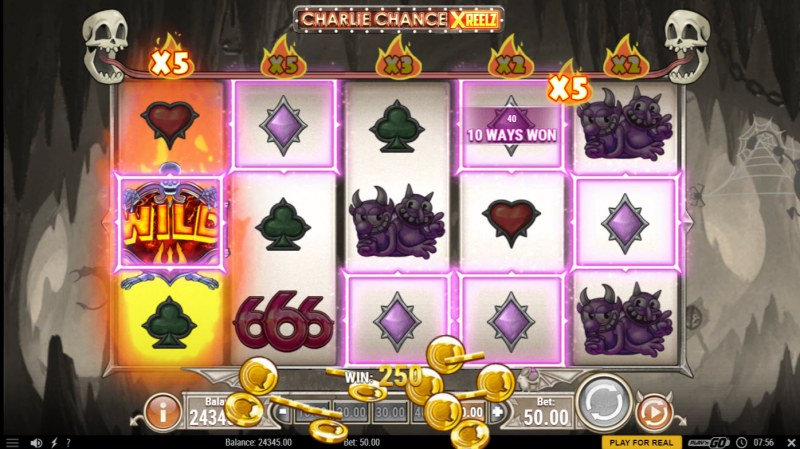 Charlie Chance Xreelz :: A five of a kind win