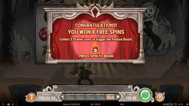 Charlie Chance :: 8 Free Spins Awarded