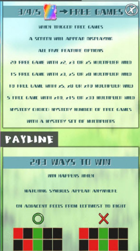 Charming 5 :: Free Spins Rules