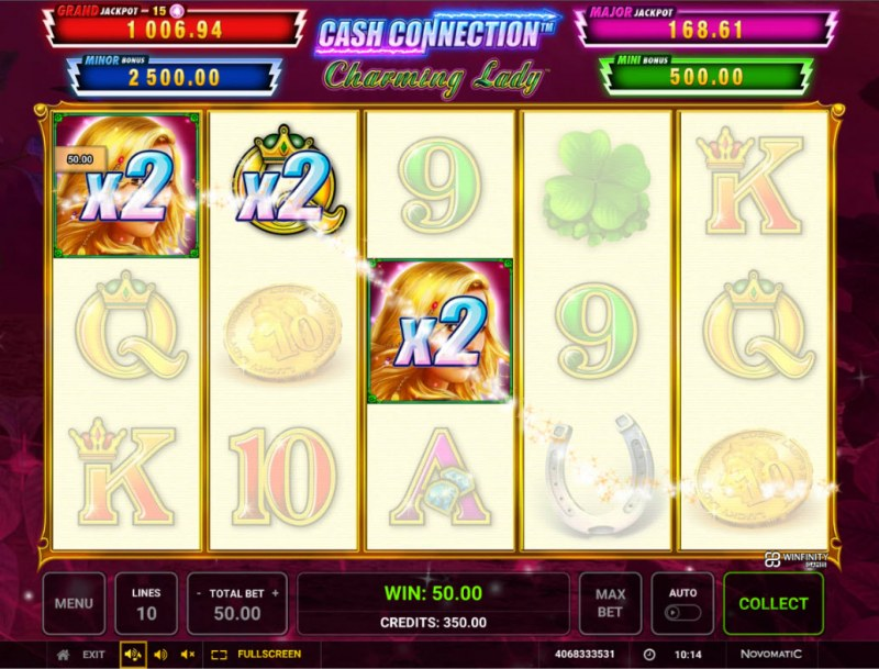Charming Lady Cash Connection :: A three of a kind win