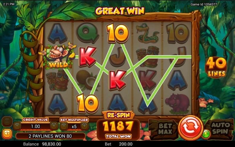 Cheeky Charlie 2 :: A three of a kind win