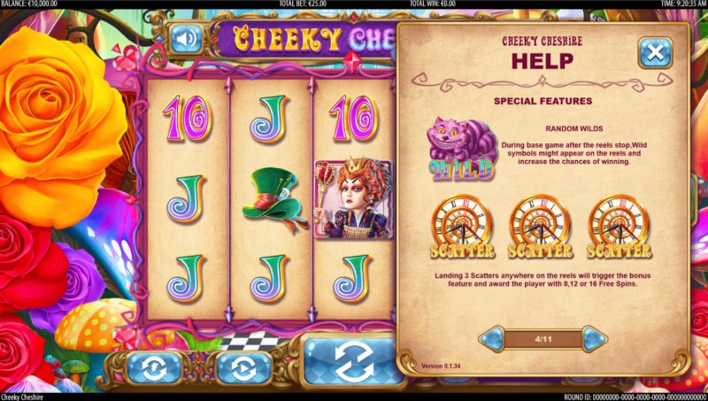 Cheeky Cheshire :: Wild and Scatter Rules