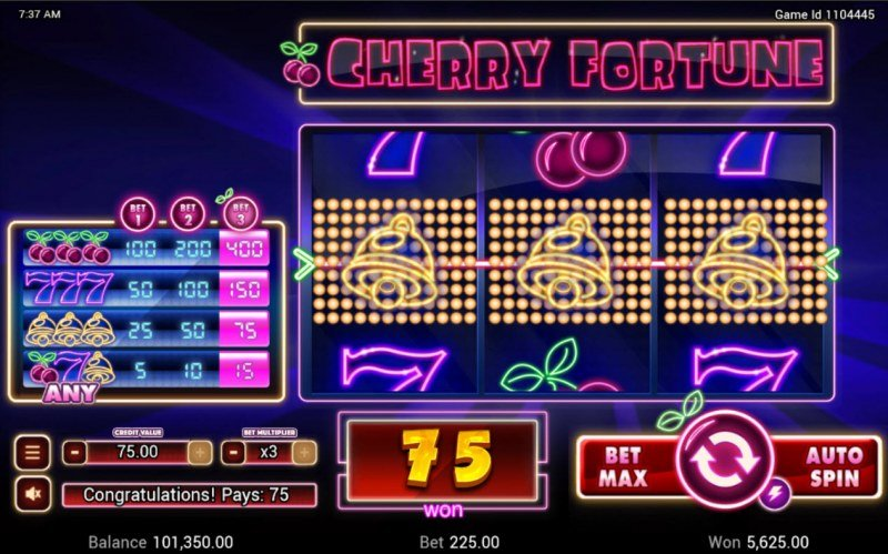 Cherry Fortune :: A three of a kind win
