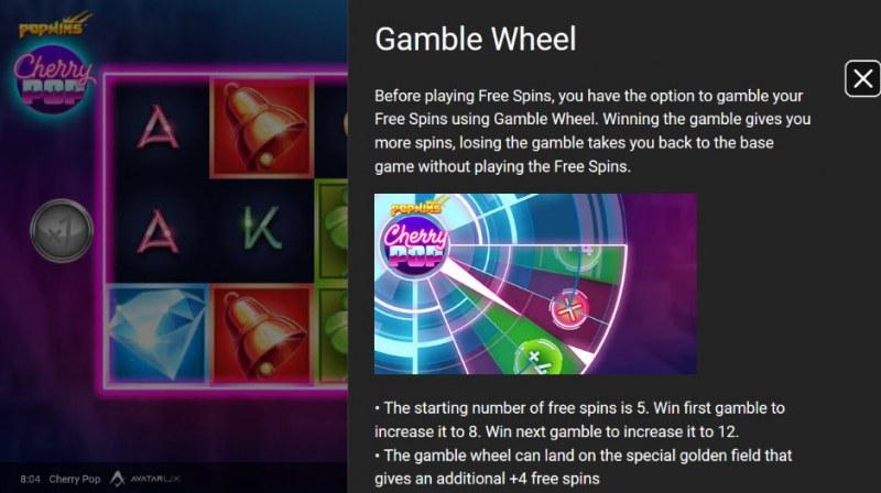 Cherry Pop :: Gamble Wheel