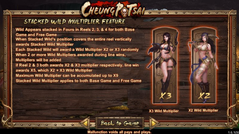 Cheung Potsai :: Stacked Wild Multiplier Feature