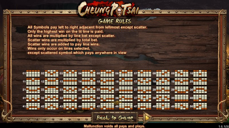 Cheung Potsai :: General Game Rules