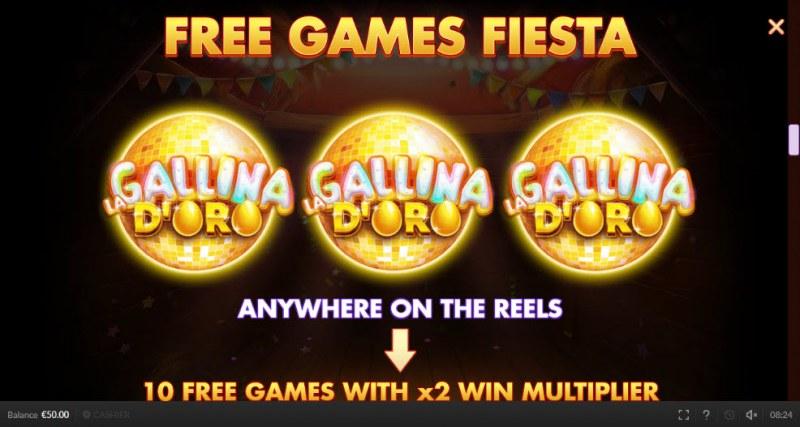 Chicken Fiesta :: Free Spins Rules