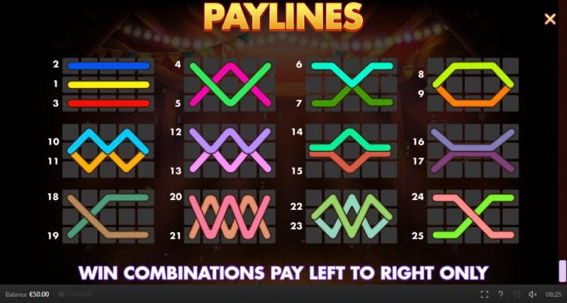 Chicken Fiesta :: Paylines 1-25