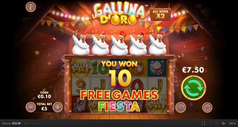 Chicken Fiesta :: 10 Free Spins Awarded