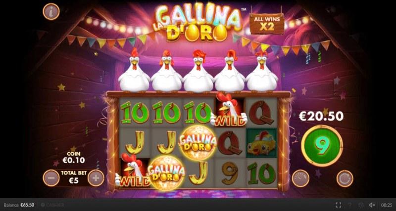 Chicken Fiesta :: Free Spins Game Board