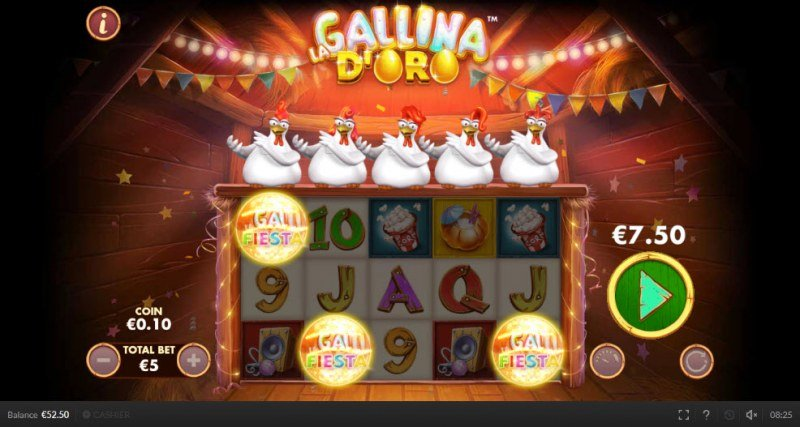 Chicken Fiesta :: Scatter symbols triggers the free spins feature