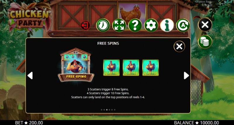 Chicken Party :: Free Spins Rules