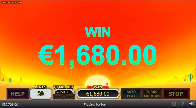 Chili Eruption Thundershots :: Total Free Spins Payout